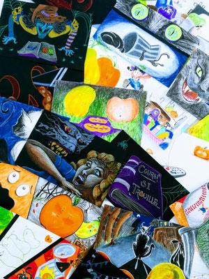 """REPRODUCTION INTERDITE - Illustrations pour """"Cours! Si trouille"""" (Annie Kim Thériault)"""
