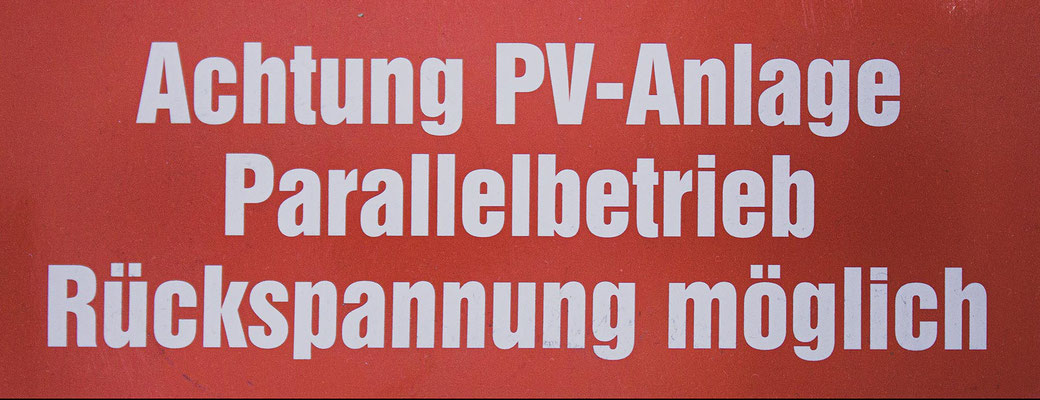 ´Schild PV-Anlage bestellen