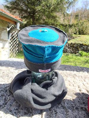 """Chapeau et Tour de cou """"Azur"""""""
