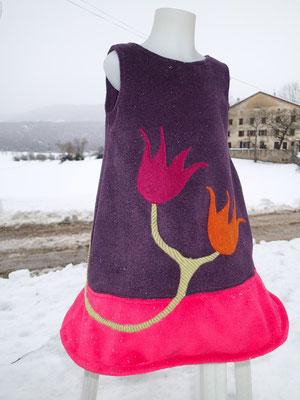 """Robe Pépette """"Quelques fleurs en hiver"""""""