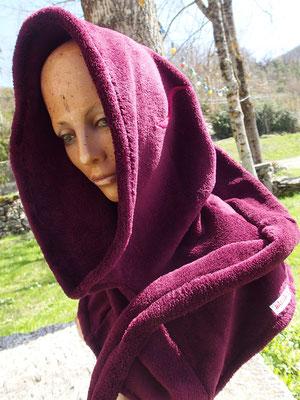 """Capuche médiévale """"Comme une violette"""""""