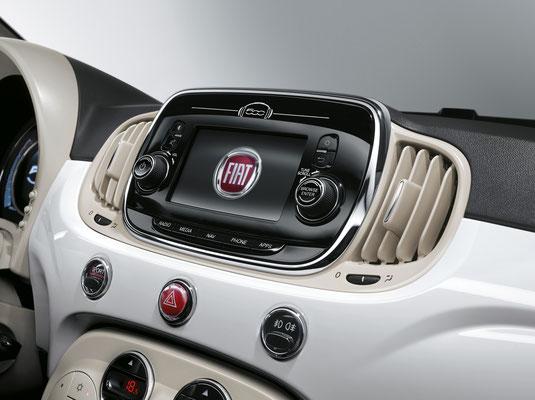 Modernstes Entertainment- und Navigationssystem beim neuen Fiat 500