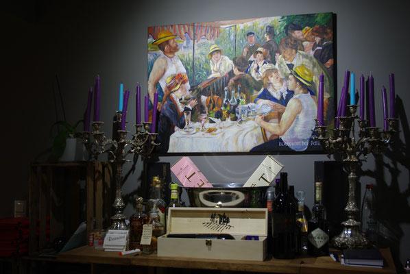 """Ölgemälde nach Renoir """"Frühstück der Ruderer""""_Gastronomie_Marcel Munz"""