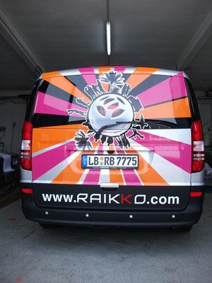 E voilà, Fahrzeugbeschriftung mit Strahlen, Digitaldrucken, wrapping-folien ...