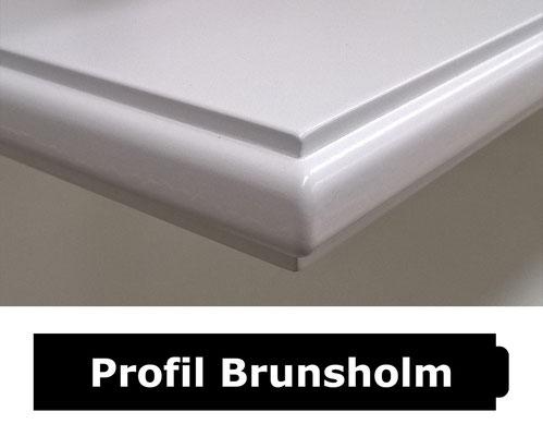 Fensterbank weiss Profil Brunsholm