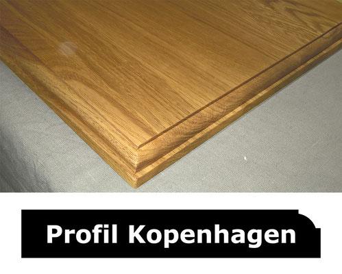 Fensterbank Eiche klar lackiert Profil Kopenhagen