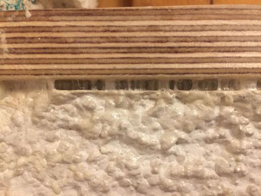 Holzfensterbank aufkleben Zwei-K-Kleber
