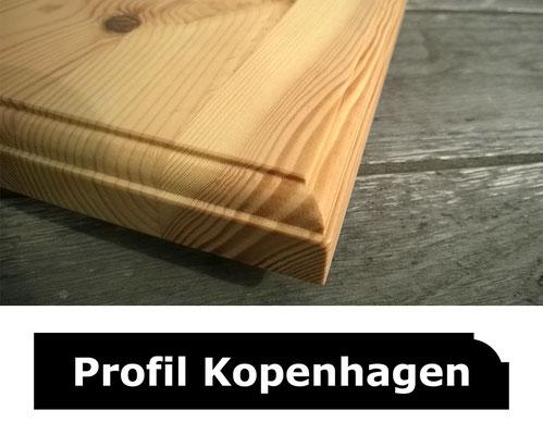 Fensterbank Kiefer unbehandelt Profil Kopenhagen