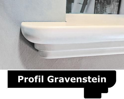 Fensterbank weiss Profil Gravenstein