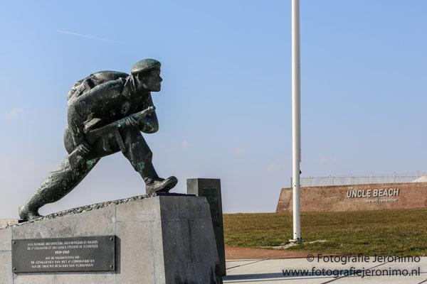 Een gedenkmonument ter nagedachtenis aan de slachtoffers, tijdens de 2e wereldoorlog, van het 4e Commando en de burgers van Vlissingen