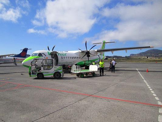 Propellerflug von Teneriffa nach El Hierro