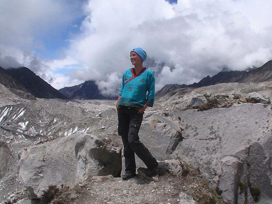 At the Mount Everest basecamp
