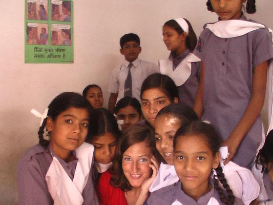 Teaching kids in India