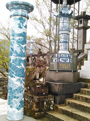 陶山神社の狛犬06番【吽形】全体像の写真