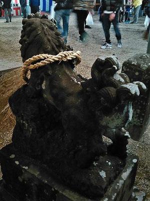 伊勢神社狛犬(吽形)