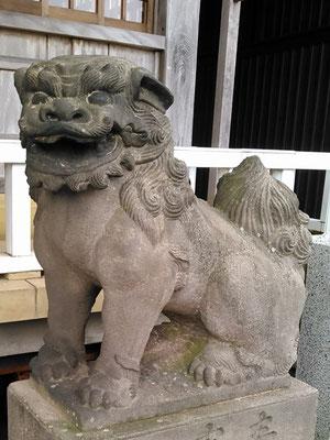 陶山神社の狛犬08番【阿形】アップの写真