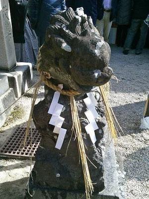 伊勢神社狛犬(阿形)