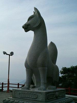 鏡山稲荷神社狛狐(吽形)