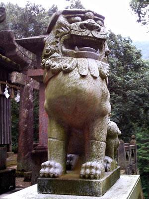 陶山神社の狛犬07番【阿形】正面の写真