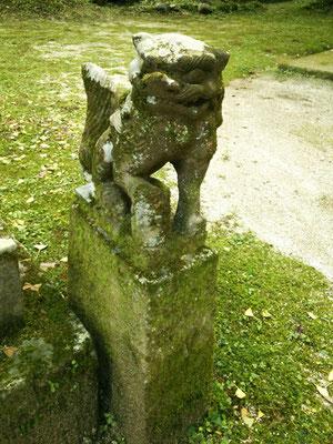 後鳥羽神社の狛犬【吽形】全体像の写真