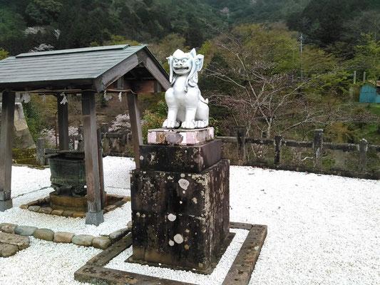 2017年04月撮影の磁器製狛犬