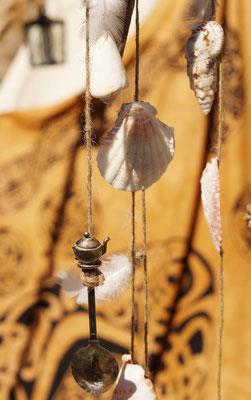 Auch mein kleines selbstgemachtes Windspiel - mein kleiner Glückbringer - findet seinen Platz an meinem Stand. © Body ART Galerie