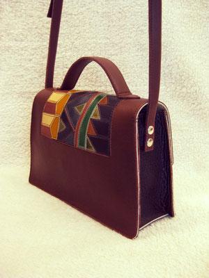 Le Marjolaine avec empiècement cuir- Bali Coco maroquinerie - 240€