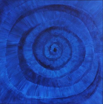 Spiralen:  Acryl auf MDF, 50x50 cm