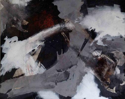 Island-2: Mischtechnik auf Leinwand; 80x100 cm
