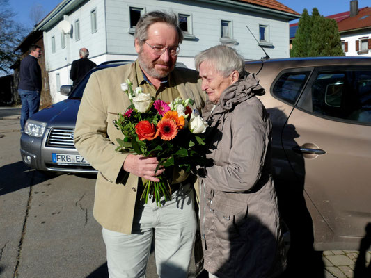 Gerhard Nagl mit der langjährigen 2. Vorsitzenden Vlasta Kroupova. Foto: Norbert Ephan