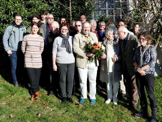Die Teilnehmer der JHV mit der Bürgermeisterin von Haidmühle Margot Fenzl. Foto: Norbert Ephan