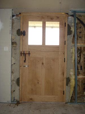 Porte fermière en bois de chêne.