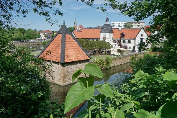 Wasserschloss Haus Rodenberg mit Gräfte und Brackenturm, Do-Aplerbeck