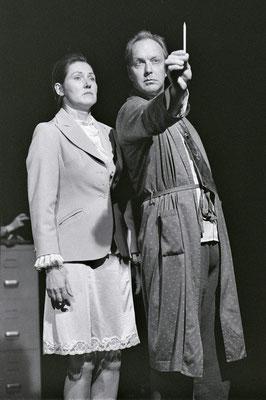 """Christian Tasche auf der Bühne in """"Abgestürzt"""" - mit Doris Wäder"""