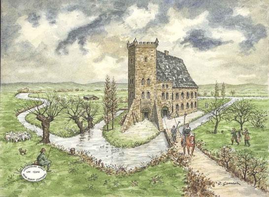 Hörder Burg, Dortmund - Ende des 13. Jhdt. Quelle: Denkmalbehörde