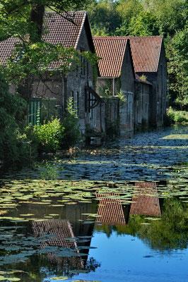 Umgräftete Wirtschaftsbauten, Wasserschloss Haus Bodelschwingh, Dortmund