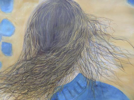 "70 x 100 Acryl auf Papier 2017 ""Serie Frau"""
