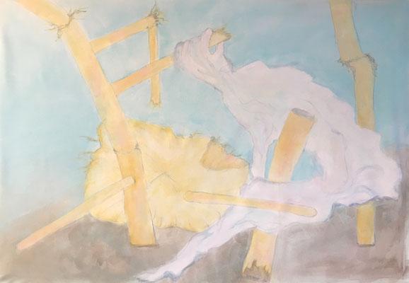 """80 x 100 Acryl auf Leinwand 2019 """"Stirb und Werde"""""""