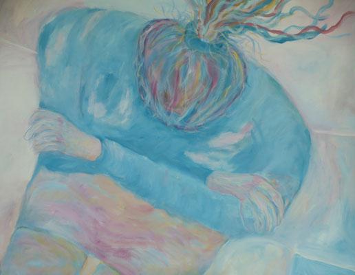 "70 x 100 Acryl auf Papier 2018 ""Serie Frau"""