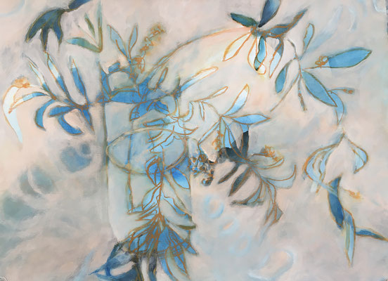 "Serie Chaos ""Flower"" 2020 70x50 Acryl auf Papier"