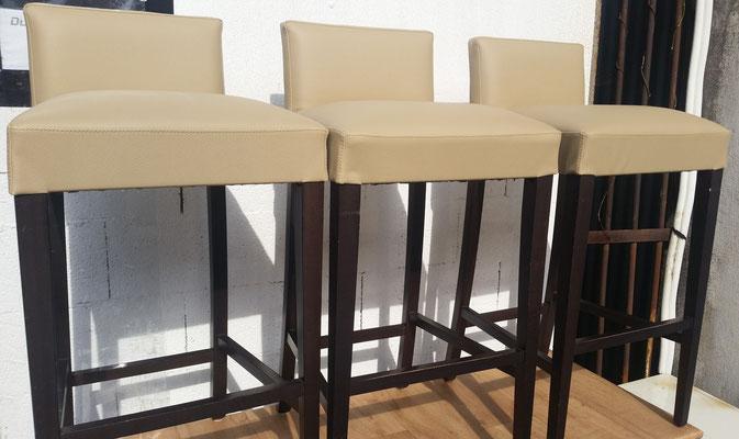 chaise de bar en simili-skai