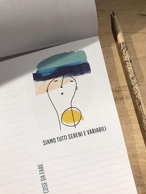 """Planning da tavolo, A4, 50 fogli con 12 grafiche diverse che si ripetono / 20.- chf • stampa """"Tipografia Grafica Bellinzona"""", a Claro"""