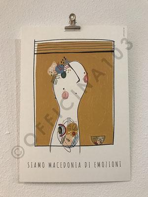 """Stampa illustrazione, carta Tintoretto 250 g/m2, dim 21 x 30 cm / 12.- chf • stampa """"Tipografia Grafica Bellinzona"""", a Claro"""