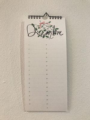 Calendario perenne dei compleanni, dim 13 x 29.7 cm / 20.- chf