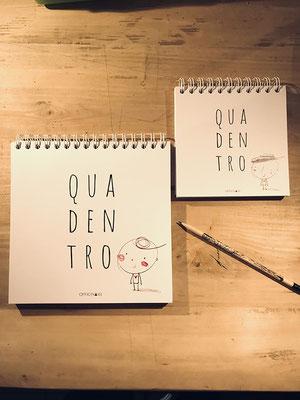 """Quadentro, diario da compilare per ricordare eventi ed emozioni • stampa """"Tipografia Grafica Bellinzona"""", a Claro"""