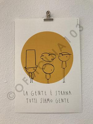"""Stampa illustrazione, carta Tintoretto 250 g/m2, dim 21 x 30 cm / 12.- chf oppure 30 x 40 cm / 16.- chf • stampa """"Tipografia Grafica Bellinzona"""", a Claro"""