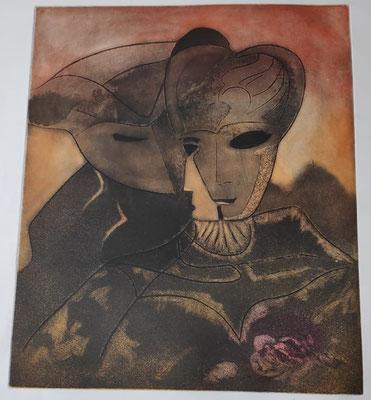 """Venise"" . Paule Danjou . Burin 1977"