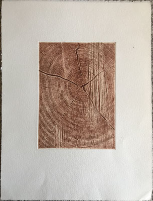 """Le coeur de l'arbre"" . Paule Danjou . Burin"