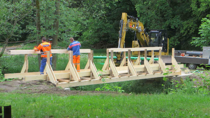 Hüttermühle Brückenbau 6