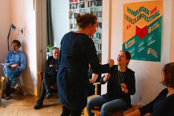 Author Feridun Zaimoglu, book club festival, leseclub, hamburg, Die Geschichte der Frau, public